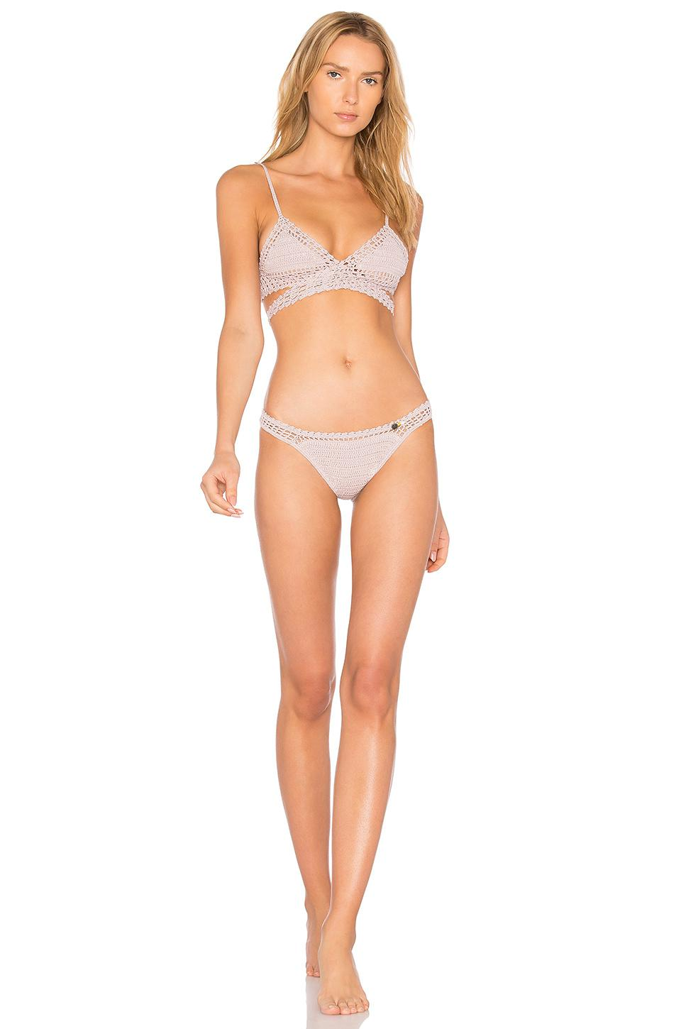 76bb8f6695 Lyst - She Made Me Essential Wrap Bikini Top