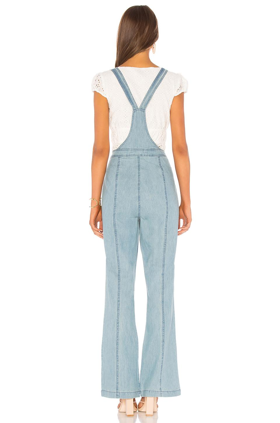 1b0ff727d0b9 Lyst - Cupcakes And Cashmere Meliani Light Wasted Denim Overall in ...