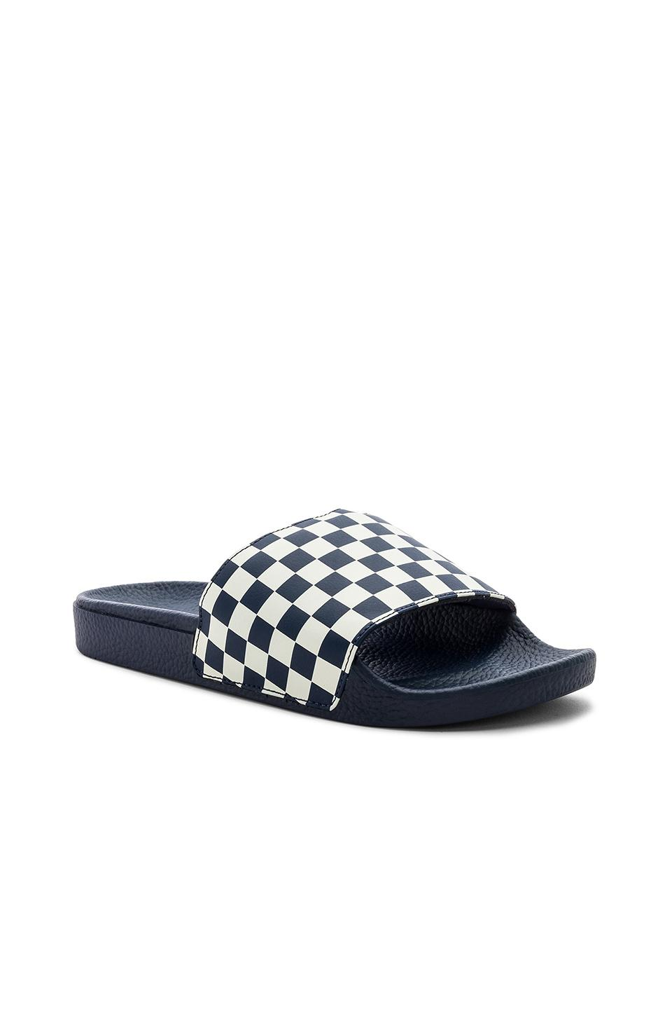 Lyst - Vans Checkerboard Slide-on in Blue for Men 3adf995a6