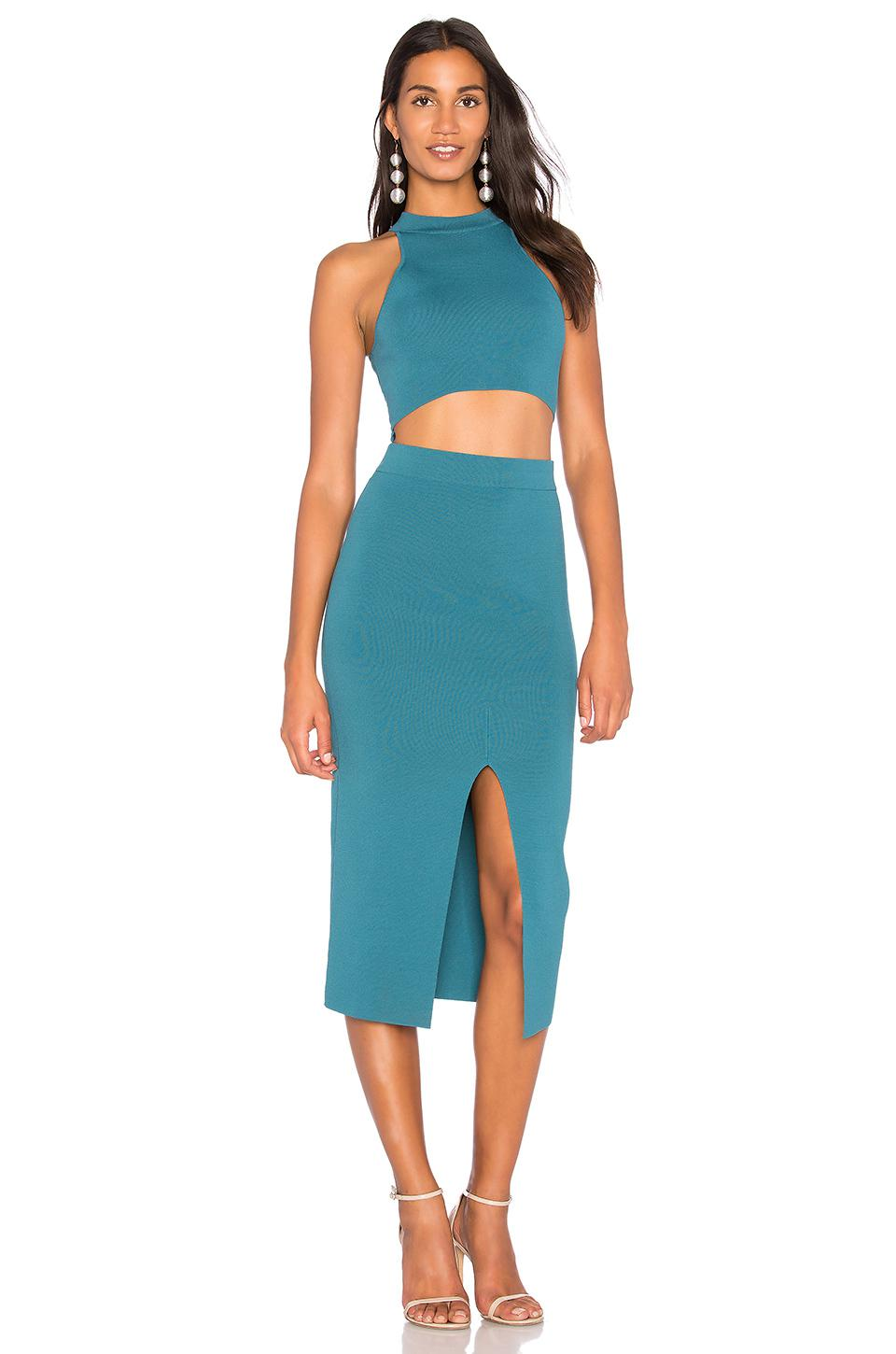 Lyst - Endless Rose Cut Out Knit Bodycon Dress in Blue