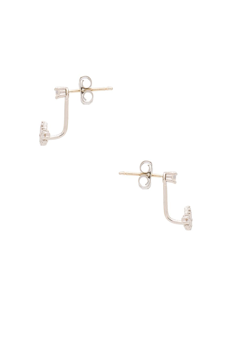 Five and Two Serena Earrings in Metallic Silver