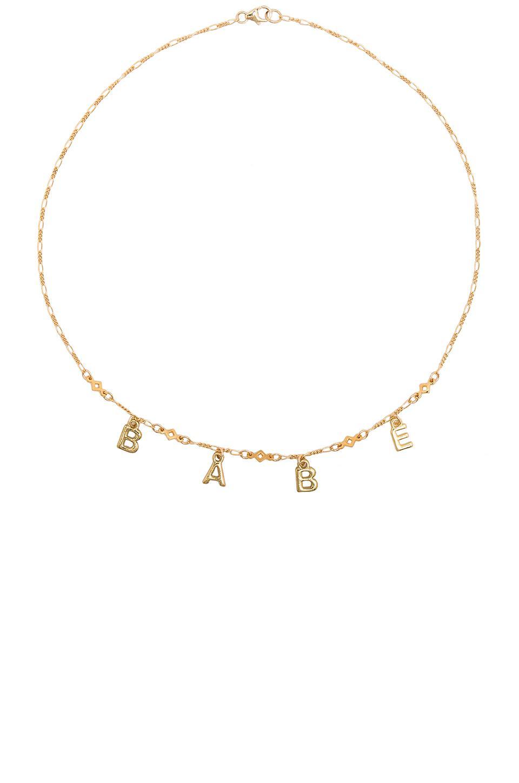 Dream Come True Necklace in Metallic Gold Frasier Sterling Ri0dns