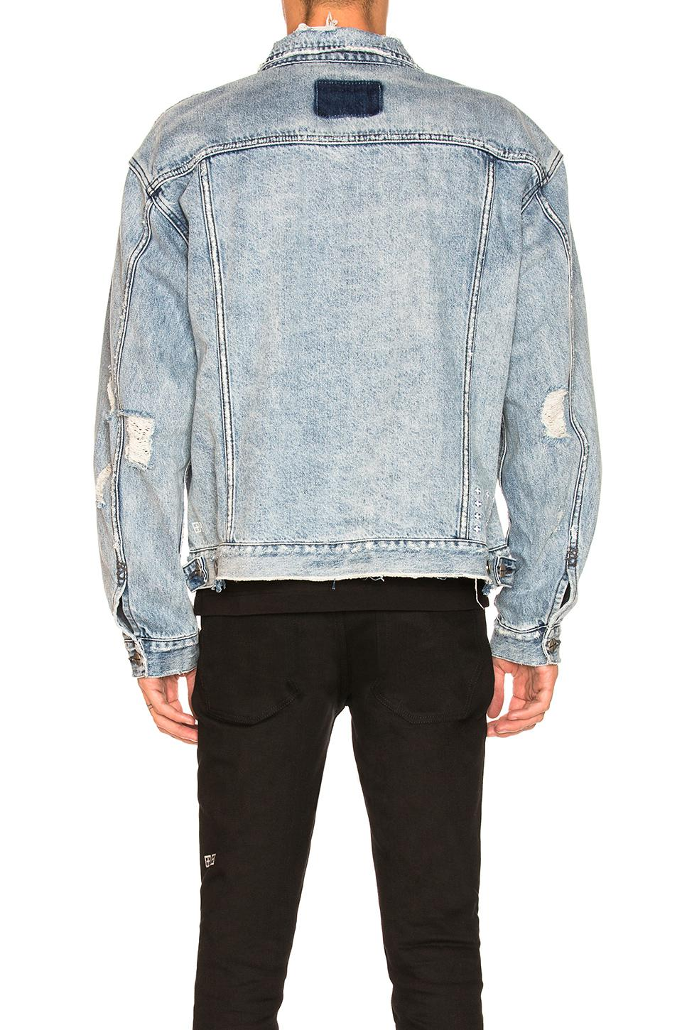 Lyst - Ksubi X Travis Scott Oh G Ghosted Denim Jacket in Blue for Men 1e3bf453e