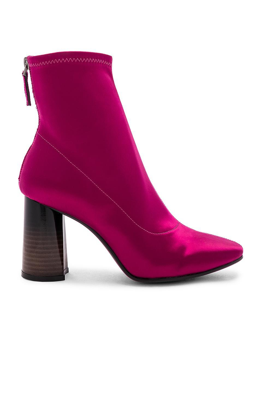 Sock Cruz Satin In Lola Purple Lyst Bootie dEgp7q