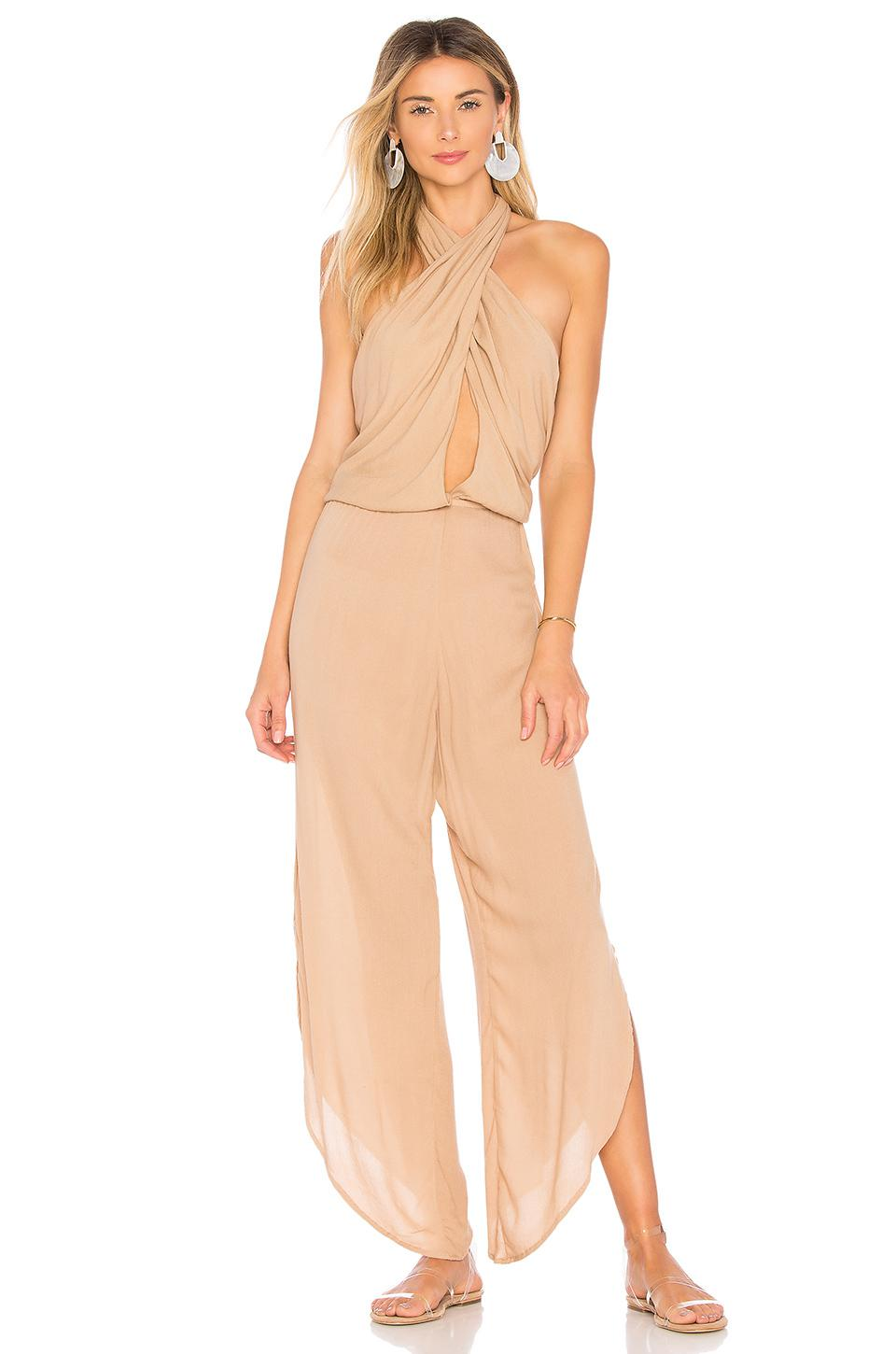 1032c47f0316 Indah Pearl Jumpsuit in Natural - Lyst