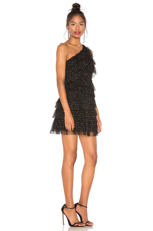 9ca182769e2 BCBGMAXAZRIA - Black Tiered Tulle Dress - Lyst. View fullscreen