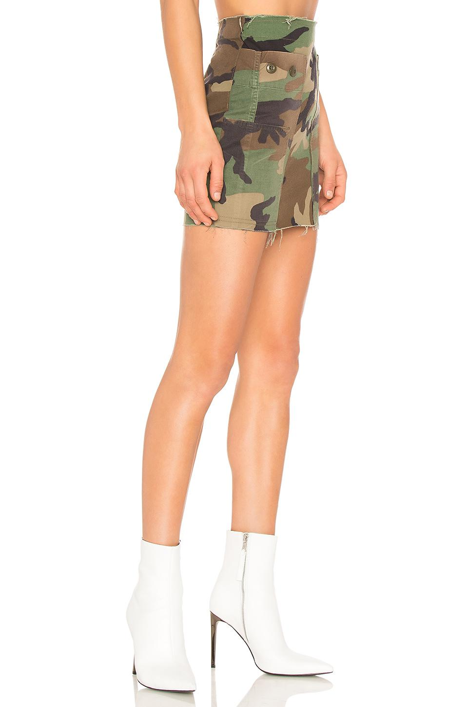 b420c24a4 Kendall + Kylie Repurposed Camo Skirt in Green - Lyst