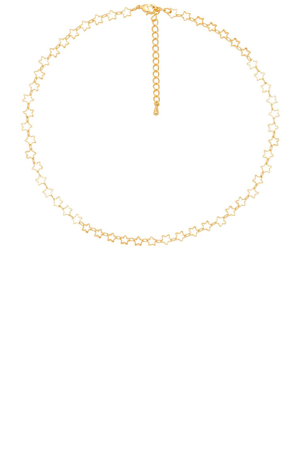 Five and Two Chain Choker Necklace in Metallic Gold ngkZNl3