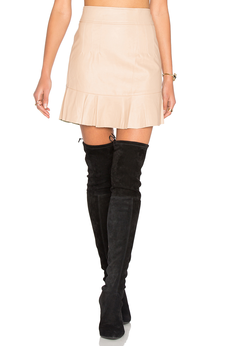 bardot frayer skirt lyst