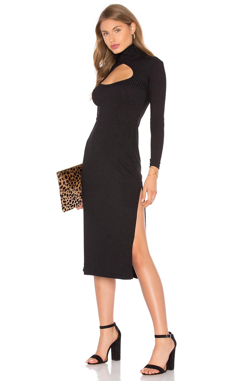 lyst  capulet cut out turtleneck dress in black