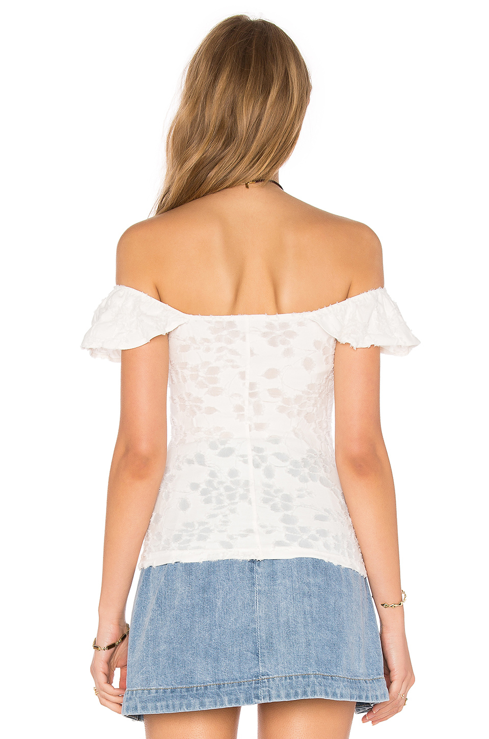 512e09edc4d3a Lyst - Free People Popsicle Off The Shoulder Top in White