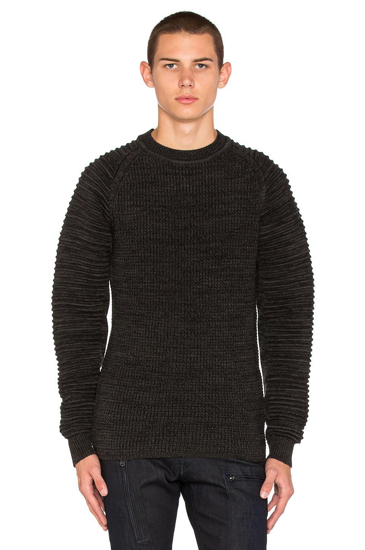 g star raw suzaki sweater in black for men lyst. Black Bedroom Furniture Sets. Home Design Ideas
