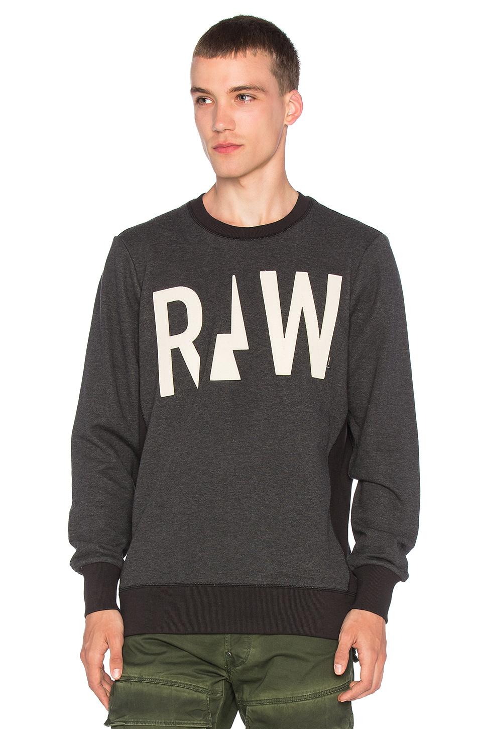 g star raw netrol sweatshirt in gray for men lyst. Black Bedroom Furniture Sets. Home Design Ideas