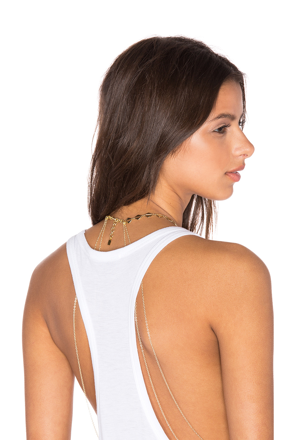 Haati Chai Riya Body Chain In Metallic Lyst