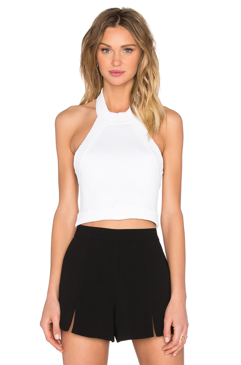 Forever 21 Pleated Halter Top You've Been Added To The ...  |Pvc White Halter Top