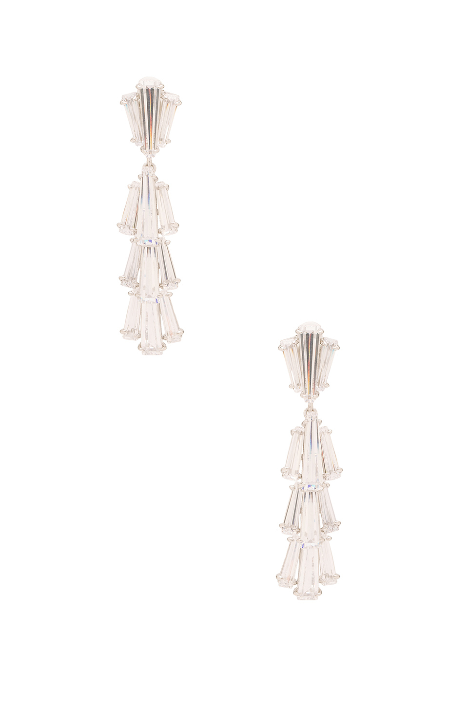 Lisa Freede Greta Earring in Metallic Silver WbU3gFHv