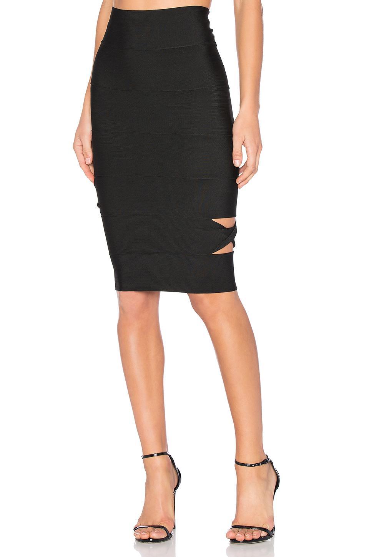 lolitta cut out midi skirt in black lyst