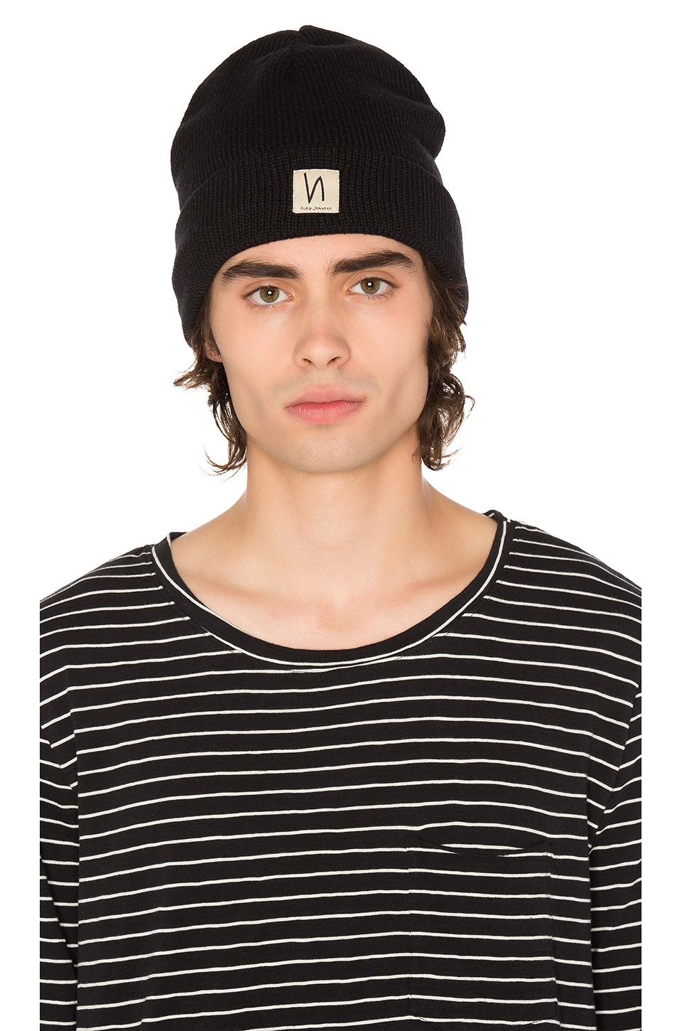 c1f6928d26e Lyst - Nudie Jeans Salomonsson Beanie in Black for Men