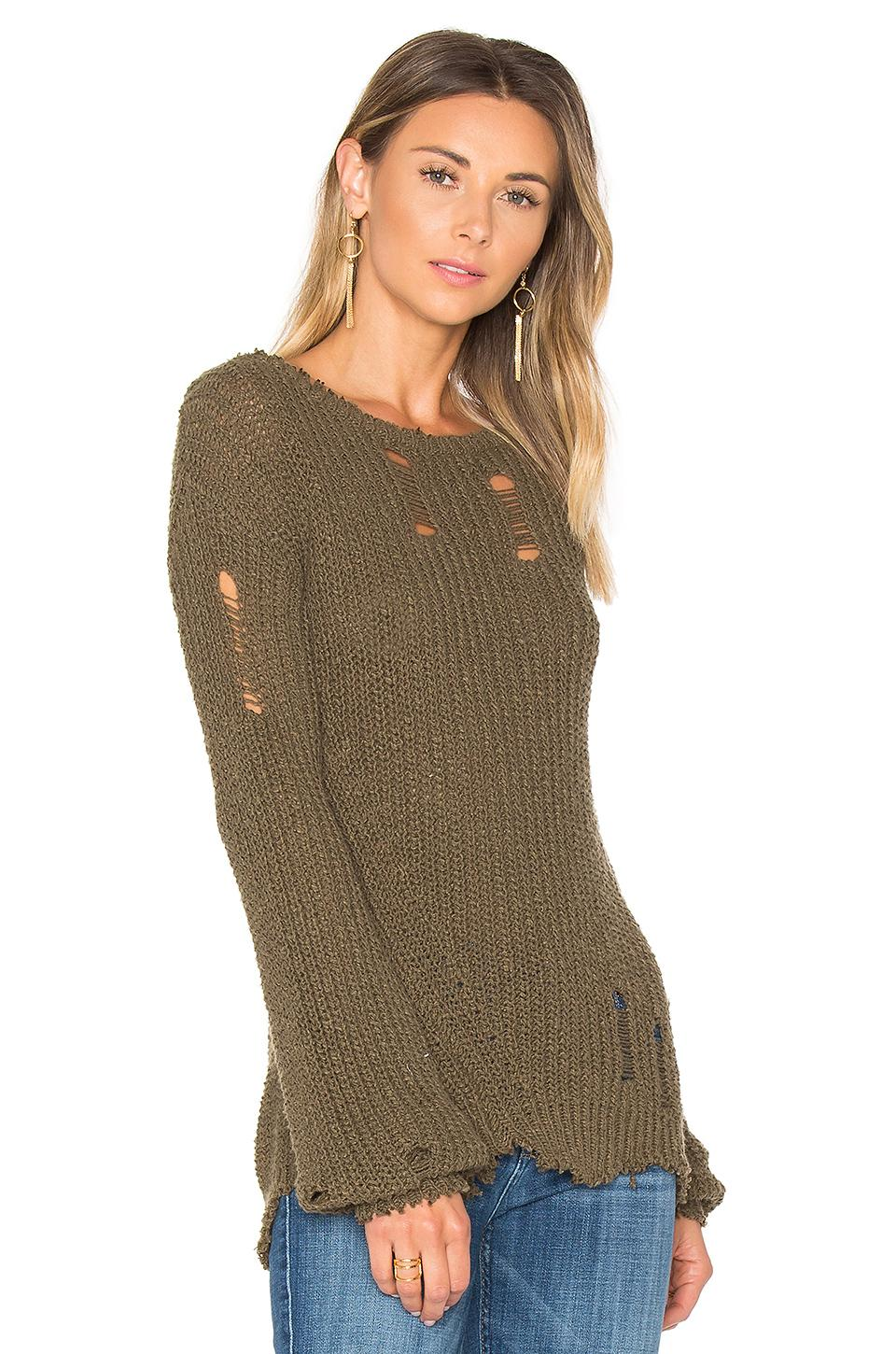 9702ebabe3 Lyst - Pam   Gela Shredded Wavy Sweep Sweater