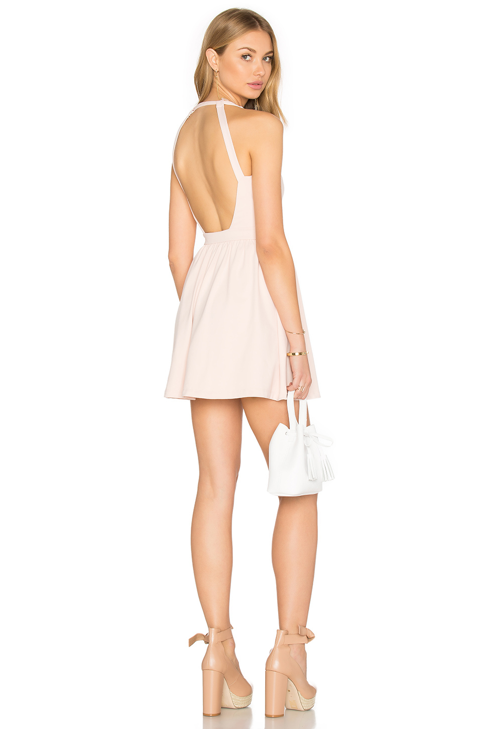Lyst Susana Monaco Backless Fit And Flare Jersey Dress