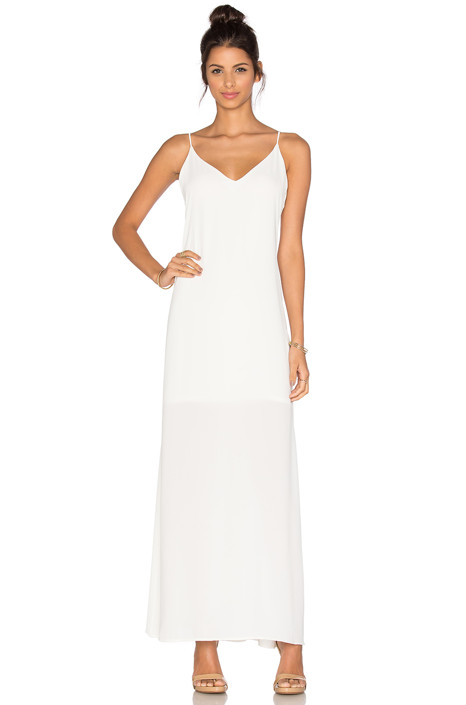 Three eighty two Lachlan Slip Maxi Dress in White | Lyst
