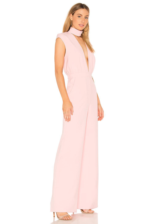 217a5ff9599 Lyst - AQ AQ Dakota Jumpsuit In Pink in Pink