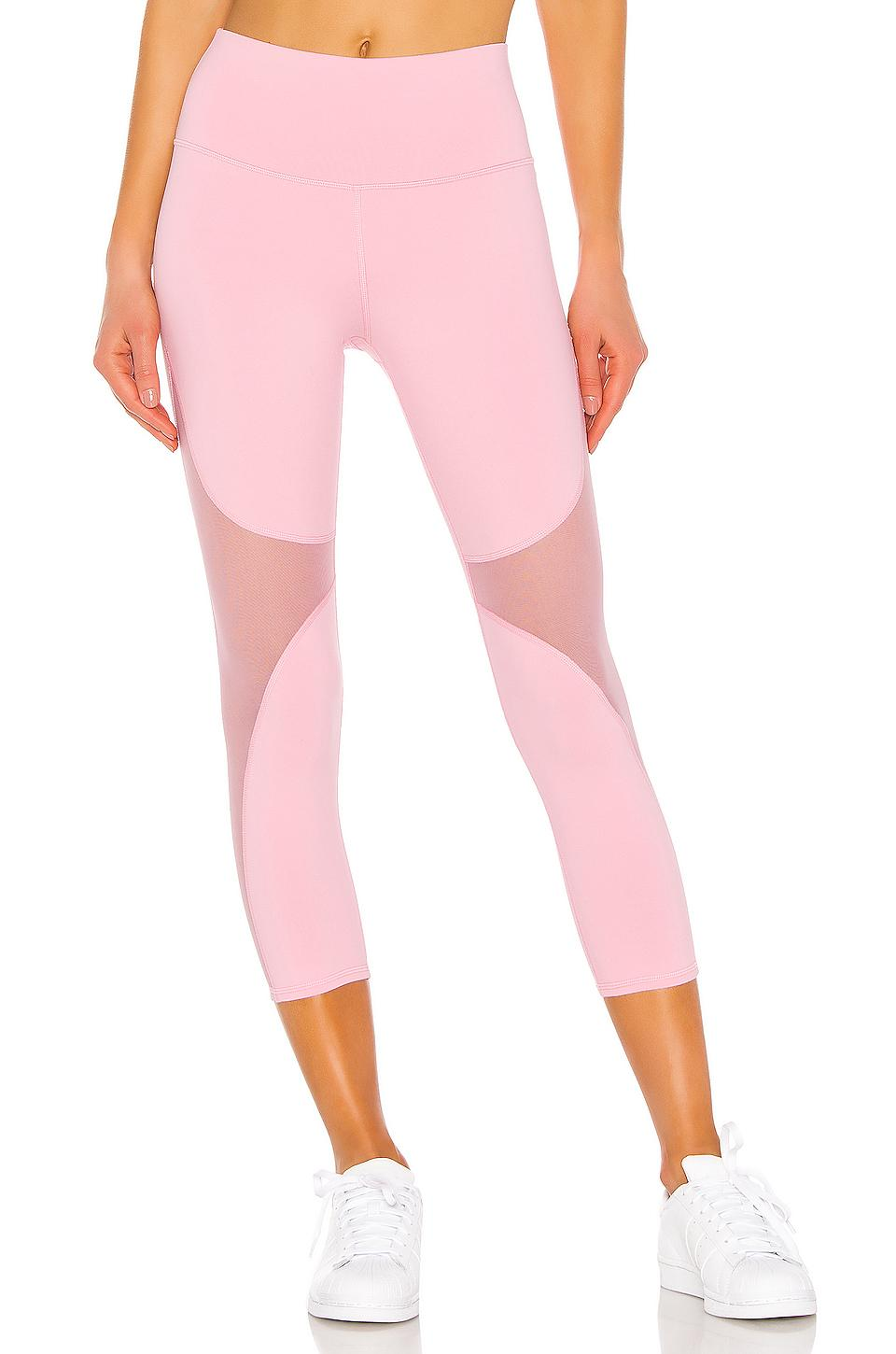 6a879f9377cfe0 Lyst - Alo Yoga High Waist Coast Capri in Pink