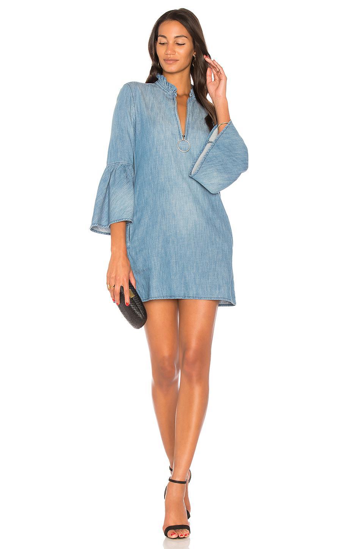6b40f4621 Blank NYC Bell Sleeve Mini Dress in Blue - Lyst