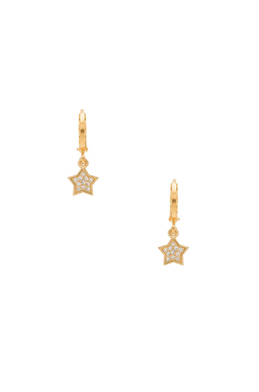 Madonna Earrings in Metallic Gold Frasier Sterling ZibIK5pr6