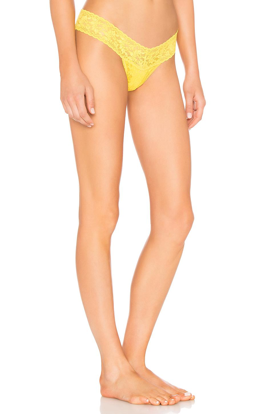 Hanky Panky - Multicolor Low Rise Thong In Yellow. - Lyst. View fullscreen 0a686b516