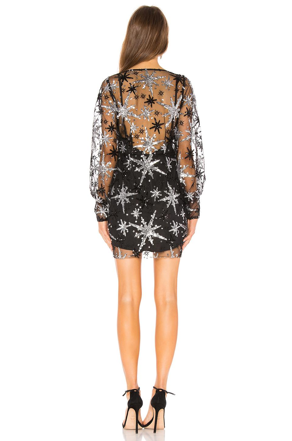 63961f108aab For Love & Lemons Stardust Mini Dress in Black - Save 70% - Lyst