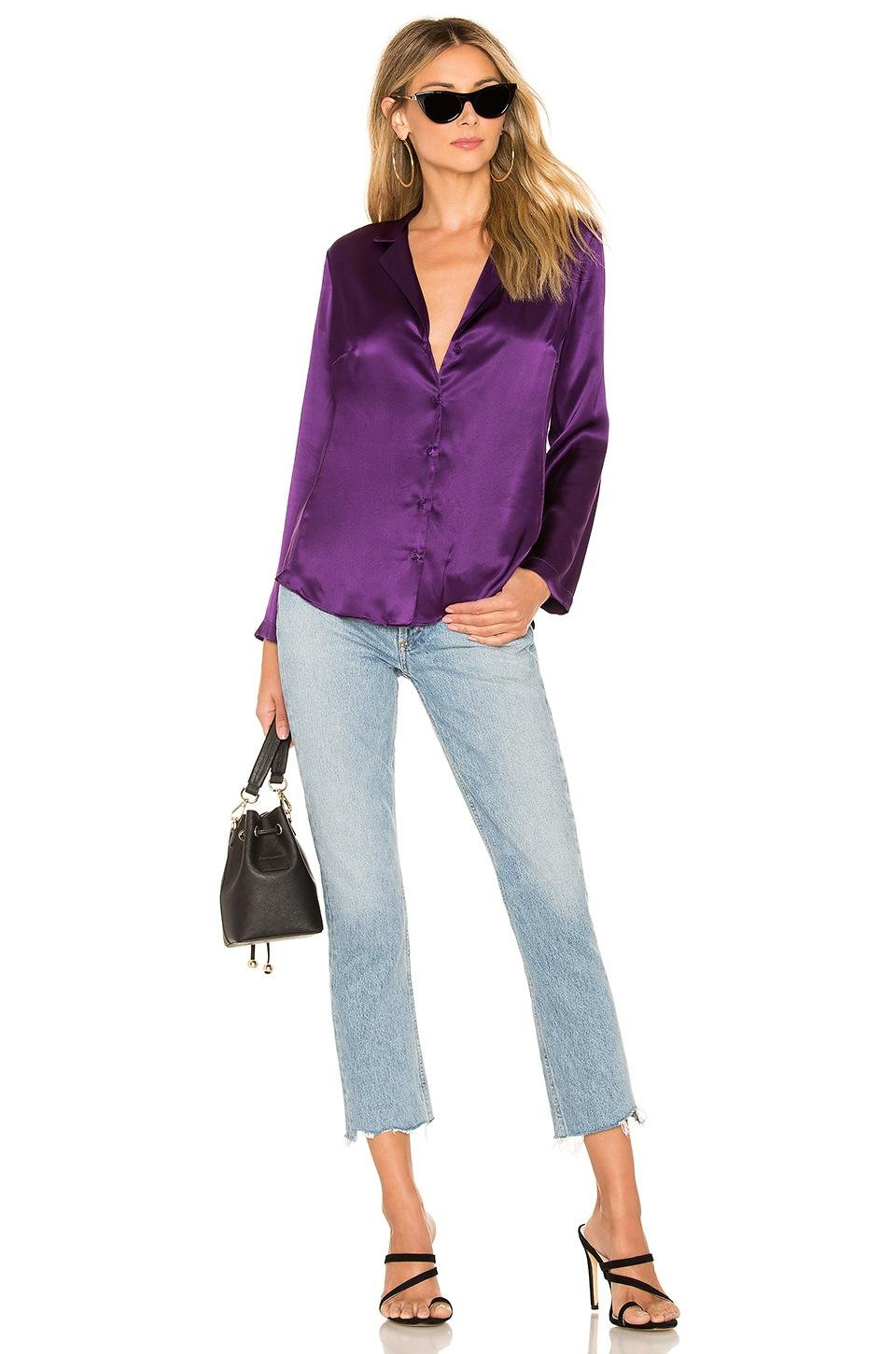 5e743890fb800e Amanda Uprichard - Purple Yvonne Blouse - Lyst. View fullscreen