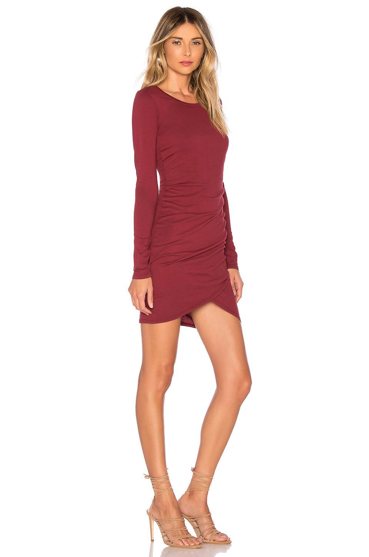 Bobi Red Supreme Jersey Wrap Dress Lyst View Fullscreen