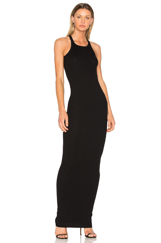 Lyst Drkshdw By Rick Owens Rib Tank Maxi Dress In Black In Black
