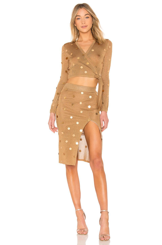 8b214bce79 House of Harlow 1960 X Revolve Roxanne Skirt in Metallic - Lyst