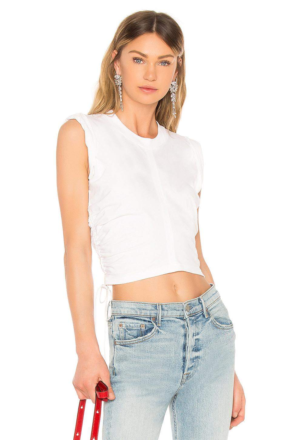 817dcf4a0864e Lyst - T By Alexander Wang High Twist Crop Top in White