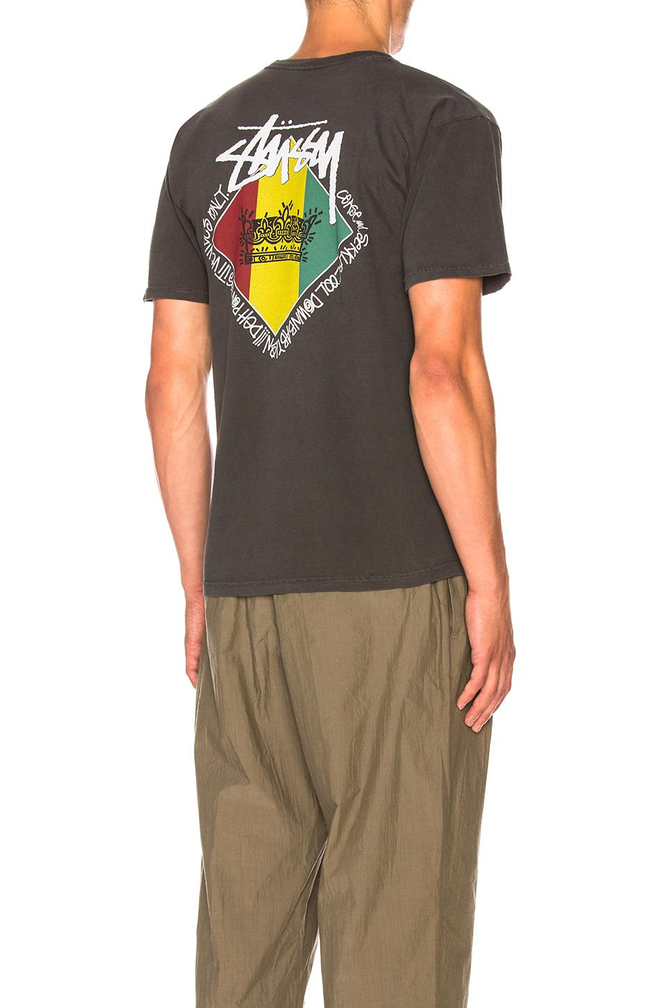 656c9d5824 Stussy Reggae Diamond Tee in Black for Men - Lyst