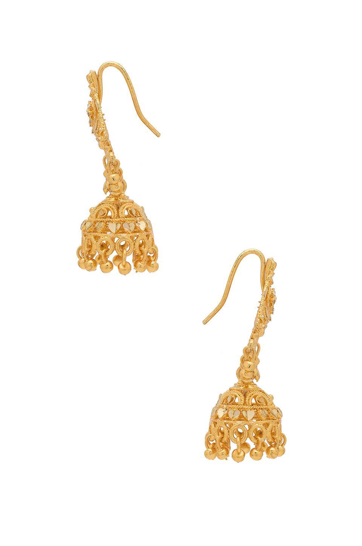 Haati Chai Earrings in Metallic Gold AQxUT
