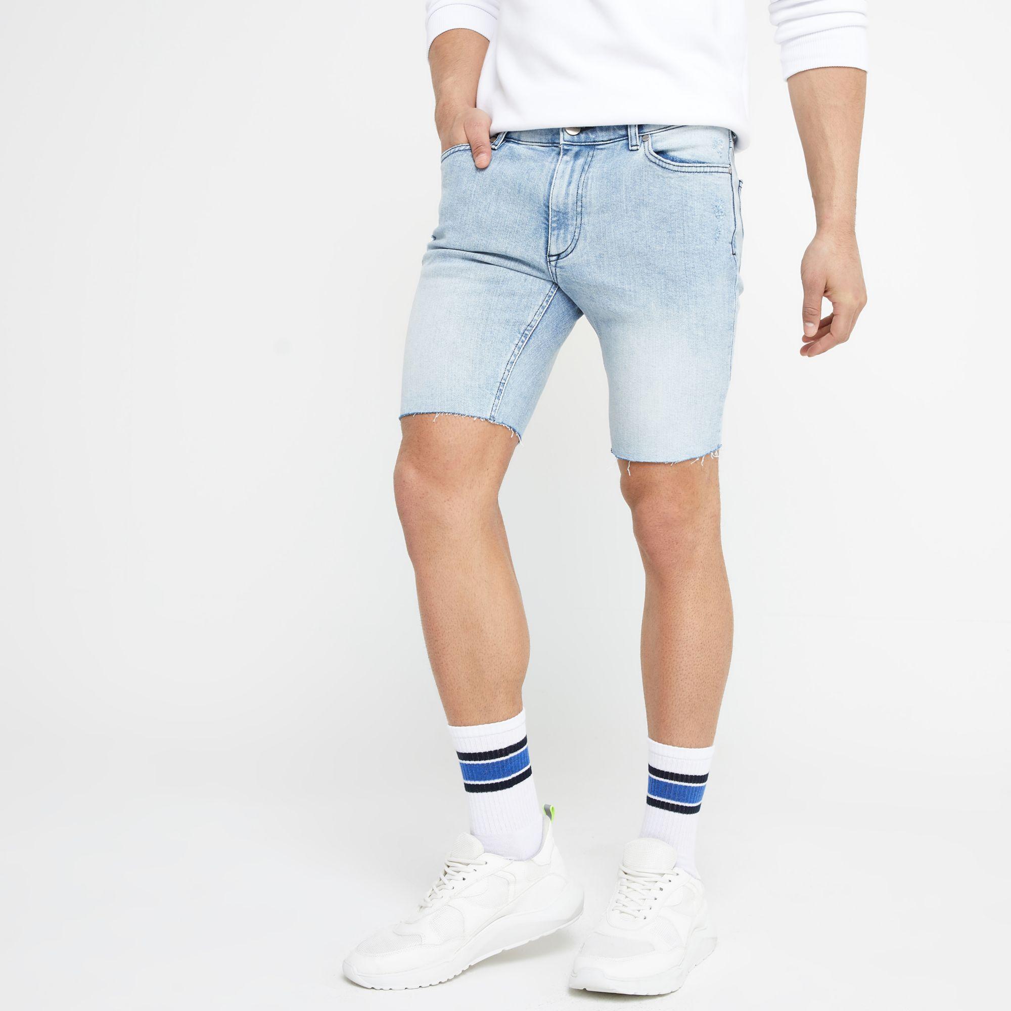cb5f44e65b ... Blue Light Sid Distressed Skinny Shorts for Men - Lyst. View fullscreen