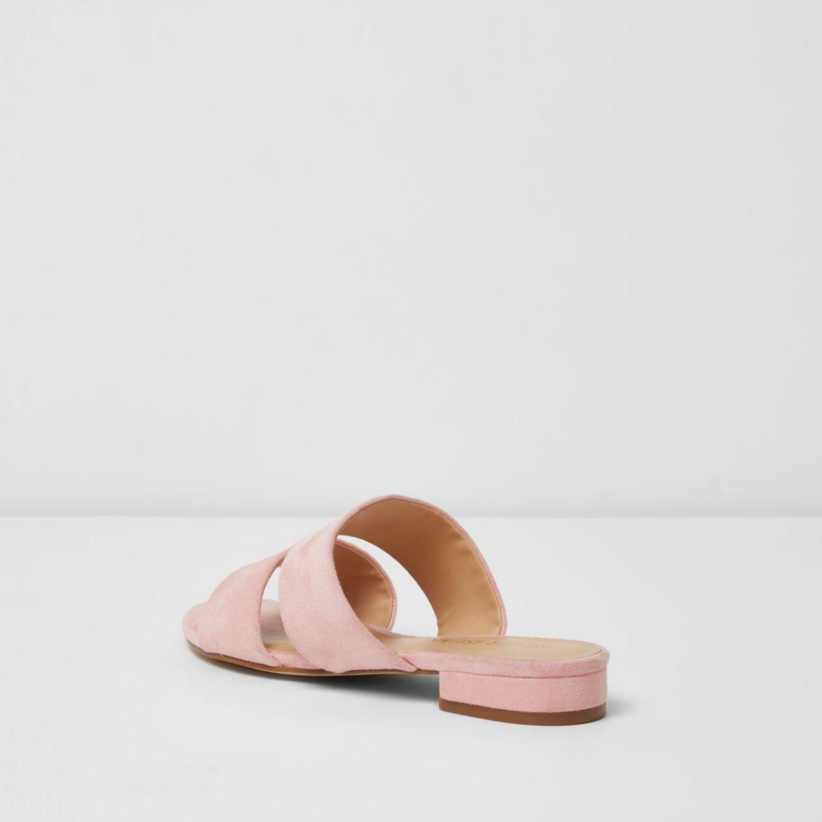 River Island Wide Fit Mules - pink 6kqN3KW1