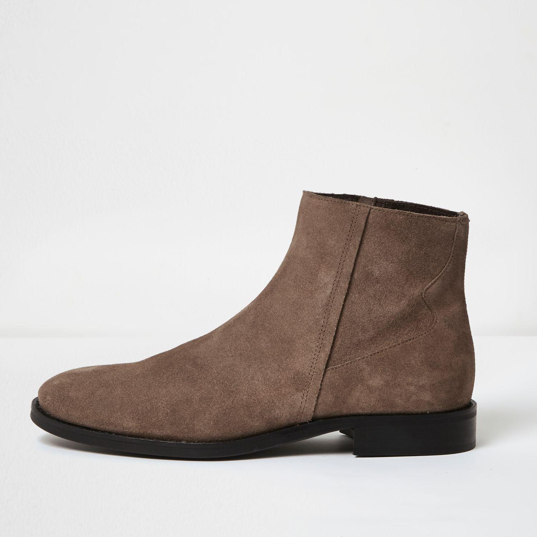 river island suede seam boots in multicolor for