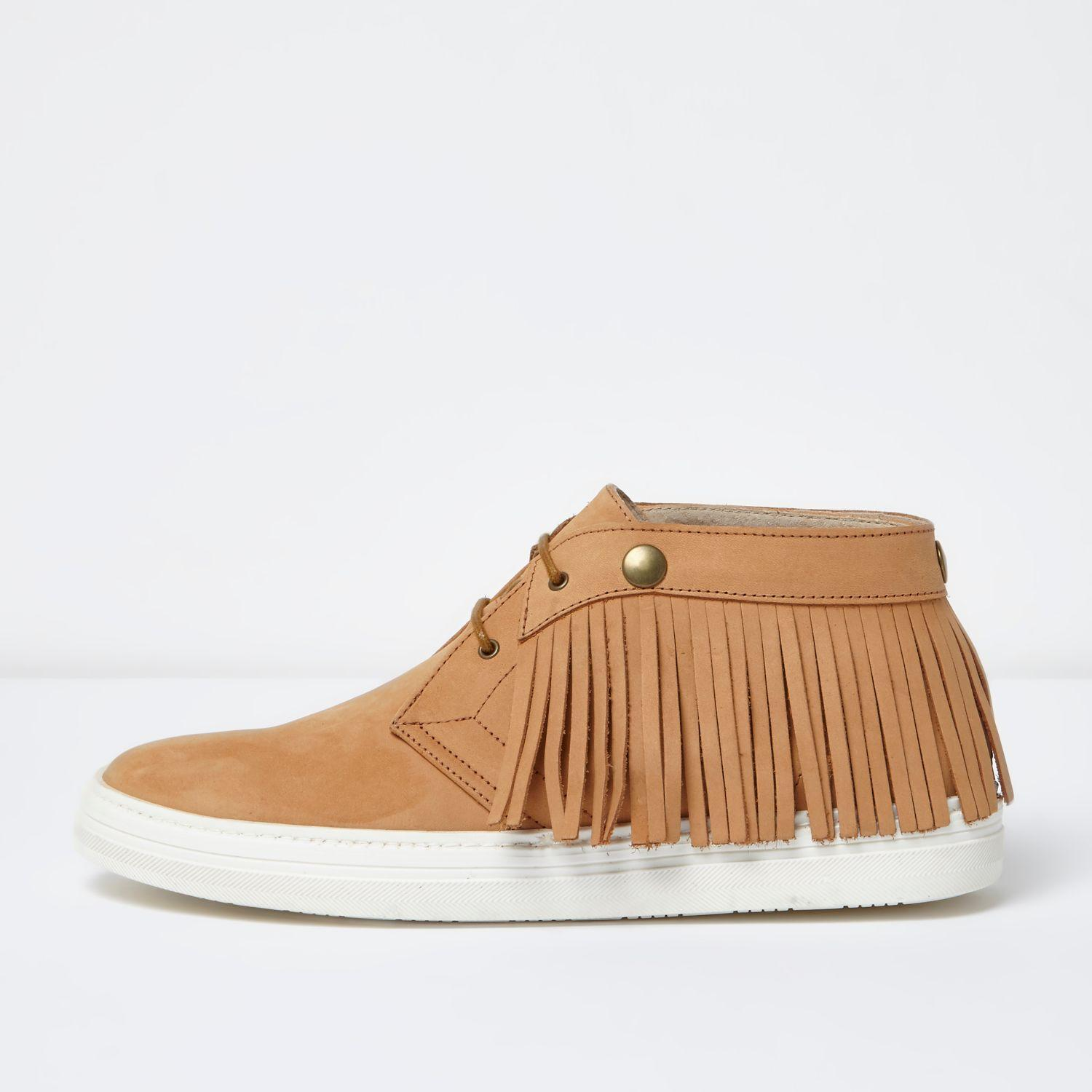 River Island Nubuck Leather Desert Boots