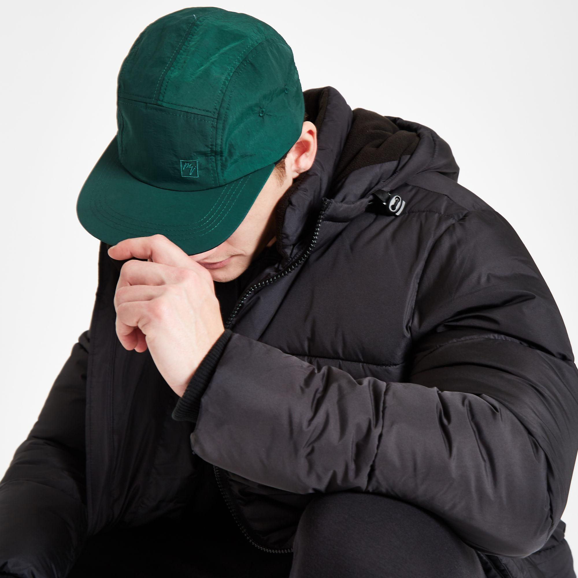 981fbac090dbc River Island  maison Riviera  Five Panel Cap in Green for Men - Lyst
