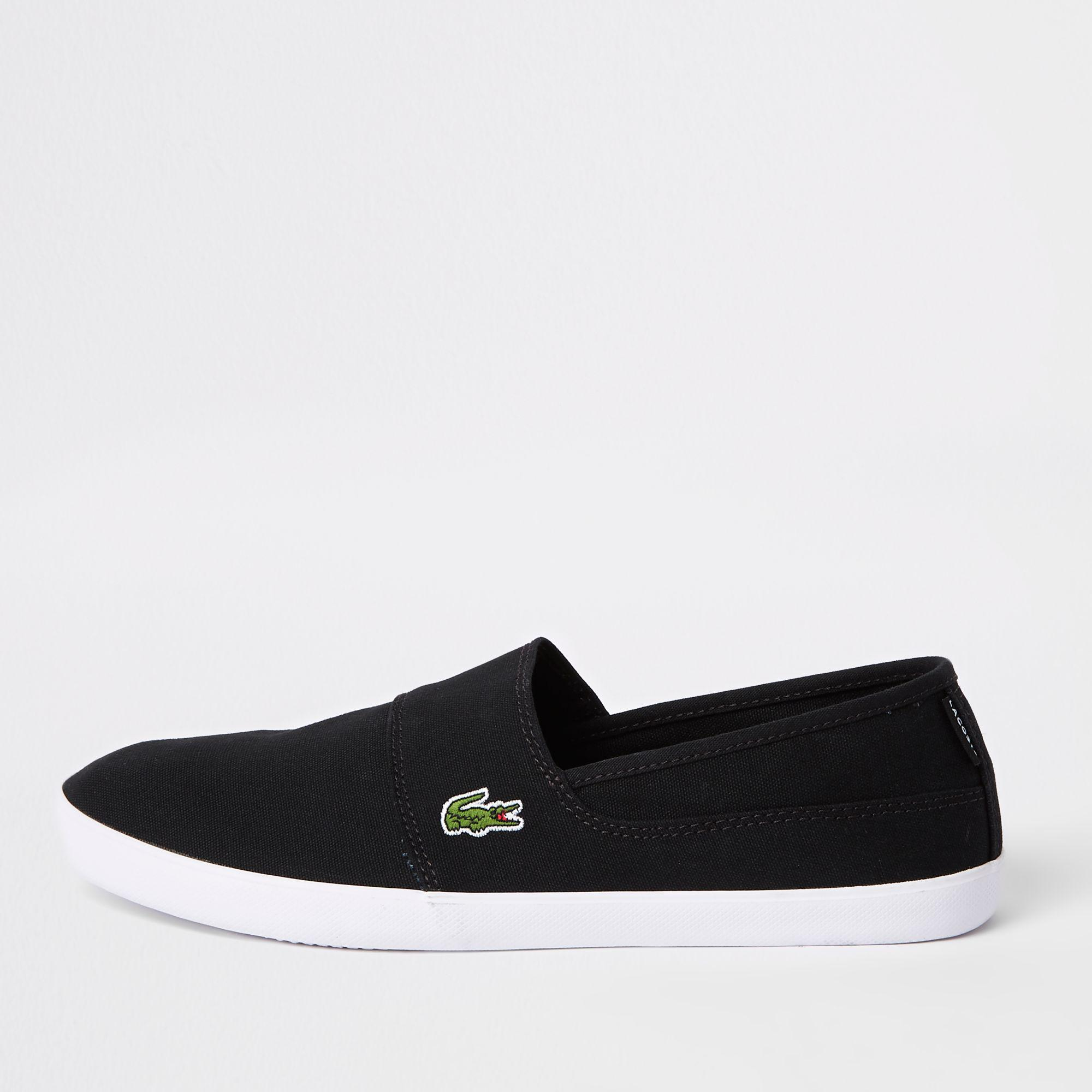 a63cc2a11 Lyst - Lacoste Slip On Trainers in Black for Men