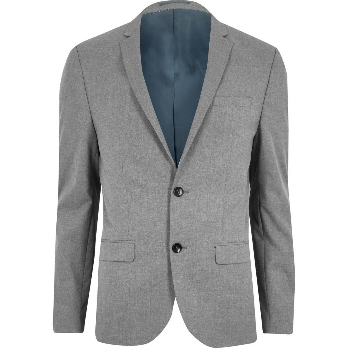 River Island Grey Suit For Men