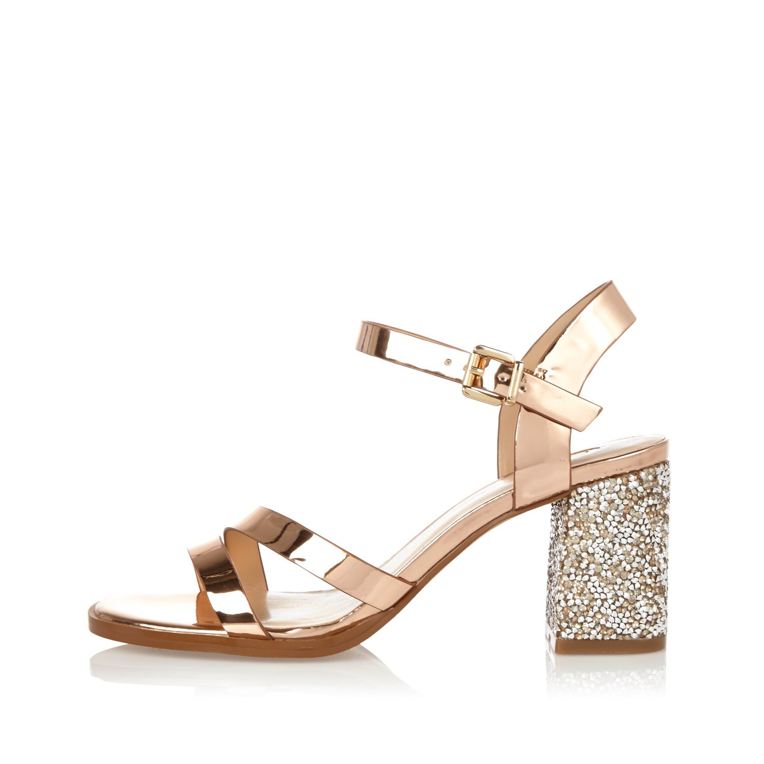 River Island Wide FitHigh heeled sandals - rose gold NLUgI8j