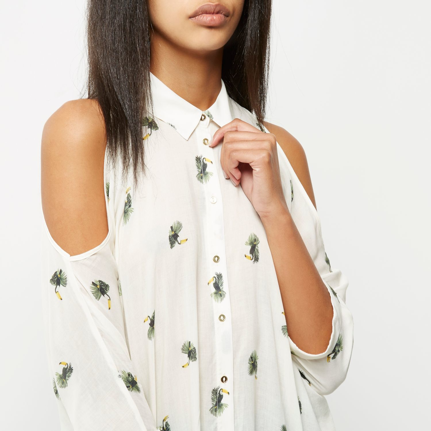 Bird Print Blouse River Island
