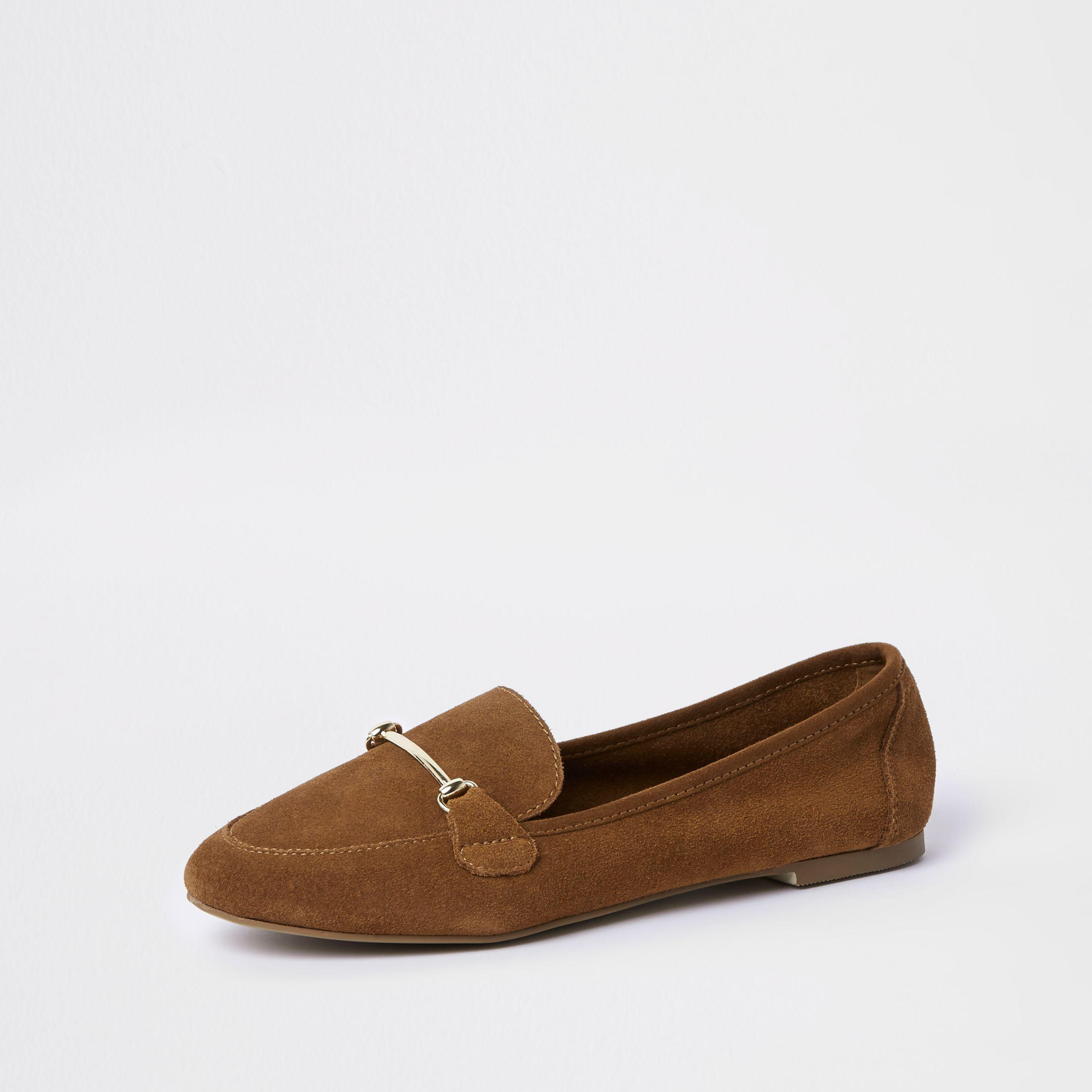 Womens Light Brown suede snaffle detail loafer River Island Best Selling Pay With Paypal Online Discount Very Cheap f42ZH