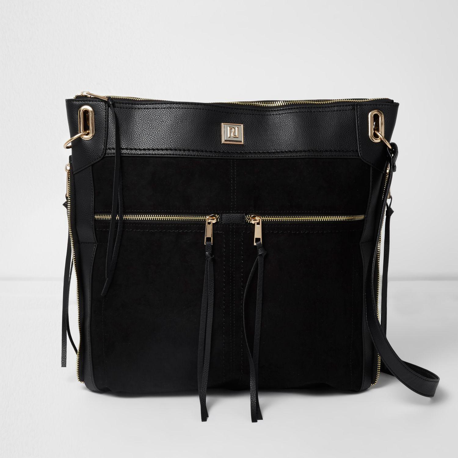 Oversized Messenger Bag River Island