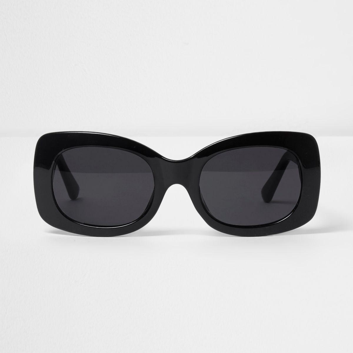 River Island Black Square Smoke Lense Glam Sunglasses in Black - Lyst f66b6d77a7